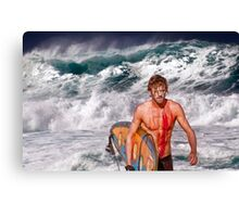 Pipeline Surfer 3 Canvas Print
