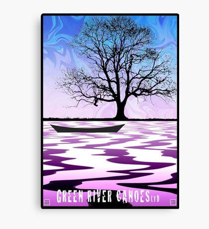 Canoeing Pienkowski Canvas Print
