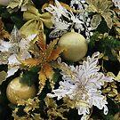 Christmas Tree Decorations - White & Gold by wiggyofipswich