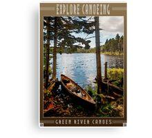 Explore by Canoe Canvas Print