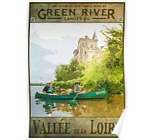 Canoeing on the Loire Poster