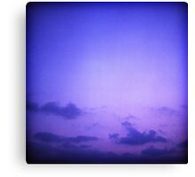 Clouds in sky in blue purple dusk sunset evening in Ibiza summer Hasselblad square medium format film analogue photo Canvas Print