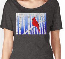 Winter Cardinal Women's Relaxed Fit T-Shirt