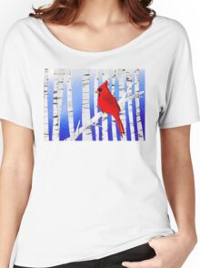 Winter Cardinal Women's Relaxed Fit T-Shirt