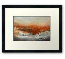 Rust Landscape II Framed Print
