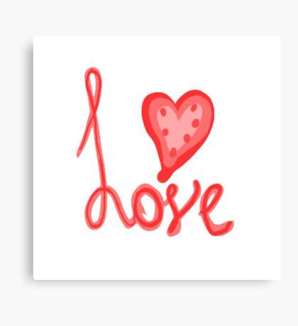 Typography Love Canvas Print