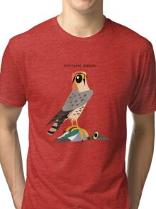 Red-naped Shaheen caricature Tri-blend T-Shirt