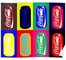 Empty Coke Cans Poster