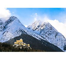 Castle in the Swiss Alps, Engadin Photographic Print