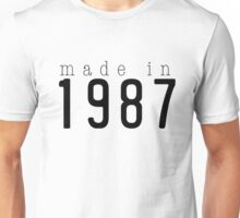 Jessica Apparel Made In 1987 Unisex T-Shirt