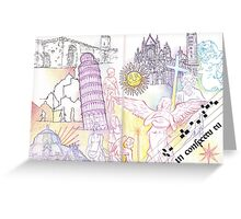 Pisa and Siena Greeting Card