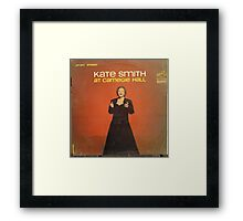 Kate Smith At Carnegie Hall Framed Print