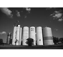Illinois Grain Silos Photographic Print