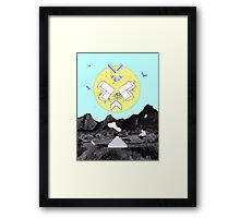 Gravity space Framed Print