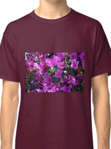 Natural background of purple flowers Classic T-Shirt