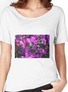 Natural background of purple flowers Women's Relaxed Fit T-Shirt