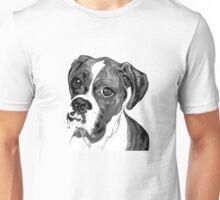 Boxer Eyes ~ Black and white Unisex T-Shirt