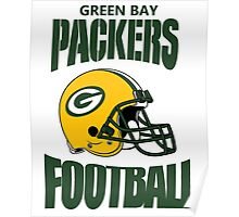 green bay packers football helmet Poster