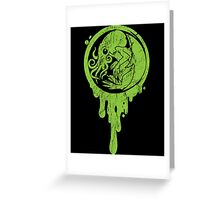 Baby-Cthulhu-Distressed Greeting Card