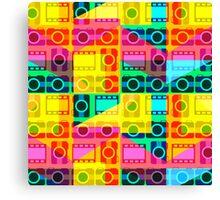 Bright camera pattern Canvas Print