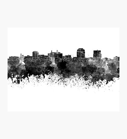 Colorado Springs skyline in watercolor background Photographic Print