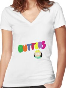 butters Women's Fitted V-Neck T-Shirt