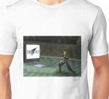 Cloud plays FFVII Unisex T-Shirt