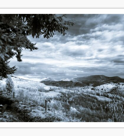 Bea Beautiful natural landscape in infrared view, Vosges mountains Sticker