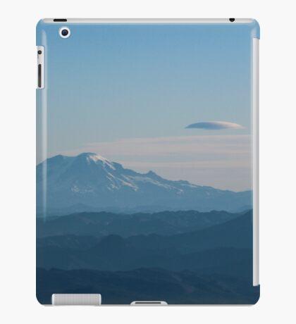 Mt. Rainier & Mt. St. Helens in blue iPad Case/Skin