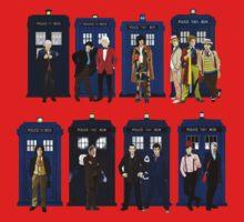 Doctor Who - Doctors & Tardises One Piece - Long Sleeve