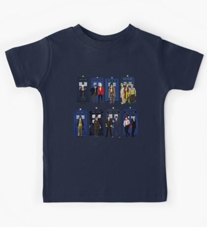 Doctor Who - Doctors & Tardises Kids Tee
