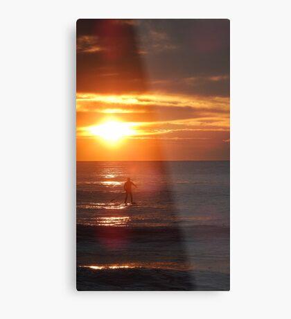 Sunrise Standup Paddle Metal Print