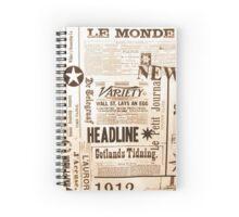 Vintage Typography Old Newspaper Ads Spiral Notebook