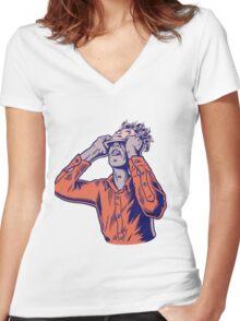 Moderat #HD Women's Fitted V-Neck T-Shirt