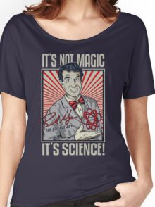 """Official Bill Nye """"It's Science"""" Tee Women's Relaxed Fit T-Shirt"""