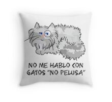 Sir Pelusa Gris Throw Pillow