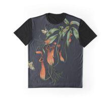 Carnivorous Pitcher Plant Dark Graphic T-Shirt