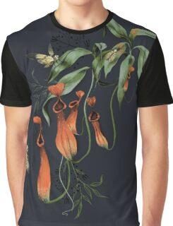 Carnivorous Pitcher Plant Dark Graphic T-Shirt