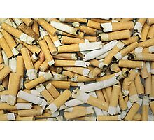 Cigarette butts dirty Photographic Print