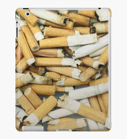 Cigarette butts dirty iPad Case/Skin