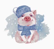 Piglet. Winter One Piece - Short Sleeve