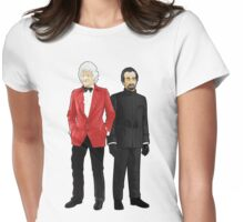 Doctor Who - Third Doctor and The Master Womens Fitted T-Shirt
