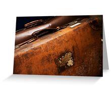 Vintage Luggage Greeting Card