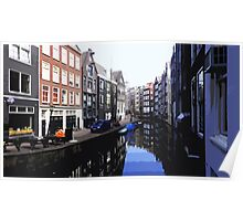 Amsterdam Canal (Cutout) Poster