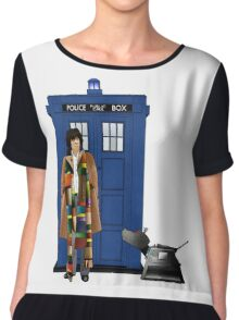 The Doctor and K-9 Chiffon Top