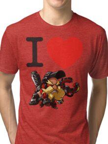 I Heart Torbjorn Cute Spray Tri-blend T-Shirt