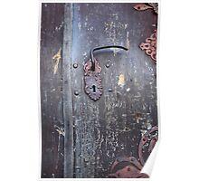 Lock and door handle on of the old the front door Poster