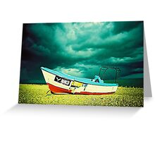 #boat at rest Greeting Card