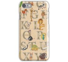ABC Animals (with names) iPhone Case/Skin
