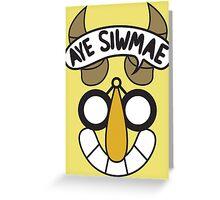 Aye Siwmae - Helm of Goofy Smiles Greeting Card
